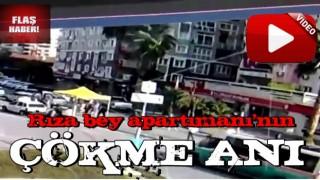 İzmir'de yaşanan depremde 34 kişiye mezar olan Rıza Bey apartmanının çökme anı kamerada!