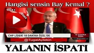 Kılıçdaroğlu'nun yalanı, TELE1'e verdiği röportajında ortaya çıktı!