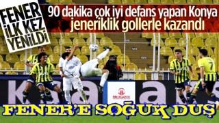 Konyaspor'a yenilen Fenerbahçe ilk mağlubiyetini aldı