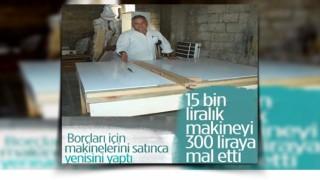 Marangoz ustası, 15 bin liralık makineyi 300 liraya mal etti