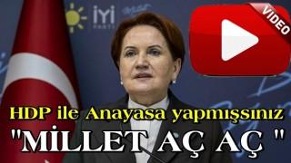 Meral Akşener'den HDP ile anayasa yapıldı mı sorusuna garip cevap..
