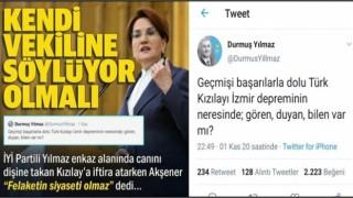 Partisi Kızılay'ı hedef alan Akşener'den 'felaketin siyaseti olmaz' açıklaması