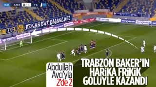 Trabzonspor, deplasmanda Ankaragücü'nü yendi