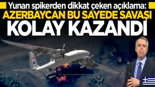 Yunan spiker: Azerbaycan Türk SİHA'ları sayesinde kazandı