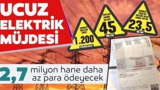 2.7 milyon hane daha elektriği ucuza alacak