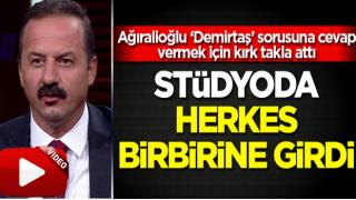 Ağıralioğlu 'Demirtaş' sorusuna cevap vermemek için kırk takla attı! Stüdyoda herkes birbirine girdi!