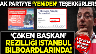 AK Parti'nin yaptığı Eminönü-Alibeyköy tramvay hattını YİNE Ekrem sahiplendi!