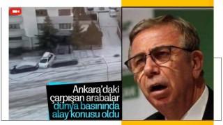 Ankara'daki kaygan yollar dünya basınında alay konusu oldu