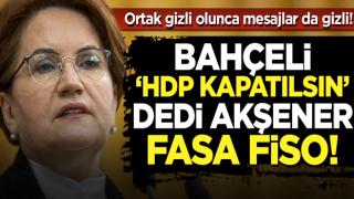 Bahçeli'nin 'HDP kapatılsın' çağrısına Meral Akşener'den fasa fiso: Erdoğan HDP'yi kapatmaz