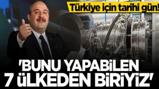 Bakan Mustafa Varank: Gaz türbinli motor teknolojisine sahip 7 ülkeden biriyiz