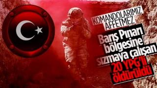 Barış Pınarı bölgesinde 20 PKK/YPG'li terörist öldürüldü