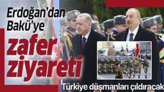 Başkan Erdoğan'dan Bakü'ye zafer ziyareti