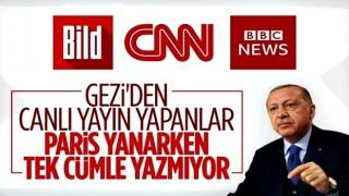 Cumhurbaşkanı Erdoğan'dan uluslararası medyaya Paris eleştirisi