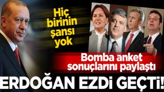 Erdoğan hepsini ezdi geçti! Bomba anket... Hiç şansları yok