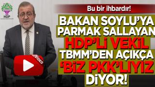 """HDP'li Kemal Bülbül TBMM'de PKK'lı teröristi işaret ederek """"Biz Kemal Pir'iz"""" dedi"""