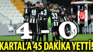 Kartal'a 45 dakika yetti! Beşiktaş 4-0 BB Erzurumspor