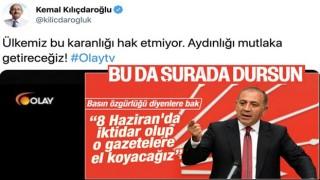 Kılıçdaroğlu'ndan Olay TV paylaşımı