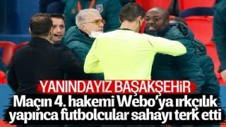 PSG - Başakşehir, maçına ırkçılık sebebiyle ara verildi