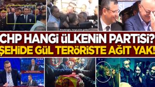 Şehit cenazesinde gülen CHP'liler, teröristlere ağlıyor