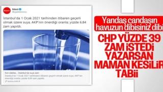 Sözcü, CHP'nin suya zam istediğini yazamadı