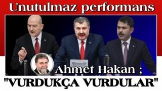 Üç bakanın Meclis'teki gece yarısı performansı
