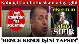 Ümit Özdağ'dan flaş açıklamalar: ''Ekrem İ. büyük terbiyesizlik yaptı''