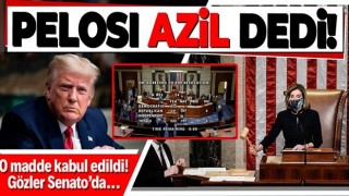 ABD Temsilciler Meclisi Donald Trump'ın azil maddesini kabul etti