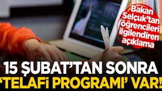 Bakan Selçuk'tan 'telafi programı' açıklaması