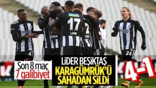 Beşiktaş, Karagümrük'ü de farklı yendi