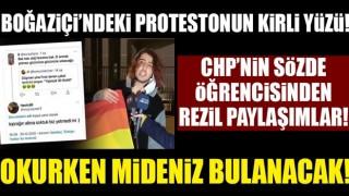 CHP'nin öğrencisinden iğrenç paylaşımlar!