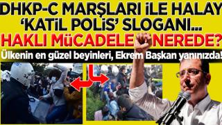 Ekrem'den 'katil polis' sloganları atan Boğaziçi Üniversitesi'nin sözde öğrencilerine destek
