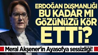 Meral Akşener'in Ayasofya sessizliği! Erdoğan düşmanlığı bu kadar mı gözünüzü kör etti?