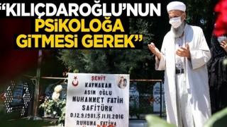 Şehit kaymakam Fatih Safitürk'ün babası Asım Safitürk'ten Kılıçdaroğlu'na sert sözler