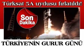 TÜRKSAT 5A uydusu, uzaya fırlatıldı