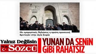 Yunan basını, Erdoğan'ın Ayasofya ile ilgili sözlerinden rahatsız oldu