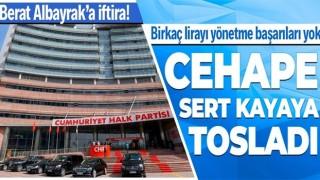 AK Parti'den CHP'ye Berat Albayrak tepkisi: Birkaç lirayı düzgün yönetme başarıları olmayan CHP yönetimi iftira atıyor