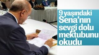 Almanya'da yaşayan minik Sena'dan Cumhurbaşkanı Erdoğan'a mektup