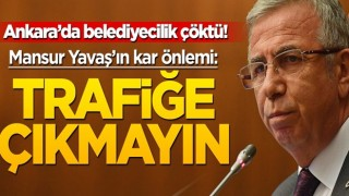 Ankara'da belediyecilik çöktü! Mansur Yavaş çareyi bunda buldu: Trafiğe çıkmayın