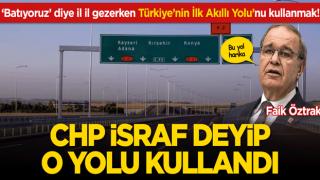 'Batıyoruz' diye il il gezerken Türkiye'nin ilk akıllı yolunu kullanmaları manidar oldu!