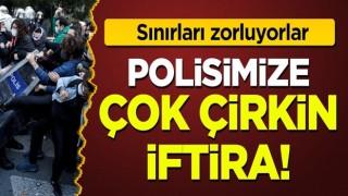 Boğaziçi provokatörlerinden polisimize ahlak dışı iftira!