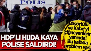 Boğaziçi Üniversitesi'ndeki eylemde HDP'li Hüda Kaya polise saldırdı