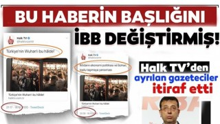 İBB istemiş, Halk TV başlığı değiştirmiş!