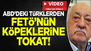 ABD'deki Türklerden FETÖ'nün itlerine tokat: Stop Gülen, PKK, PYD, YPG