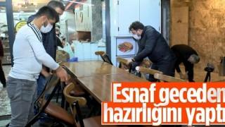 İstanbul'da restoranlar geceden hazırlık yaptı
