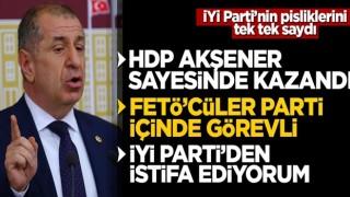 Ümit Özdağ İYİ Parti'den istifa etti! Akşener'in ipliğini pazara çıkardı