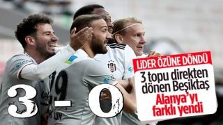 Beşiktaş, Alanyaspor'u 3 golle mağlup etti