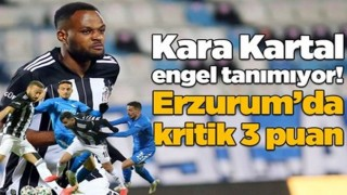 Beşiktaş deplasmanda Erzurumspor'a 4 gol attı