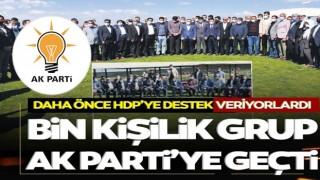 Bin kişilik grup AK Parti'ye geçti