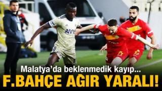 Fenerbahçe, Malatya'da ağır yaralı!