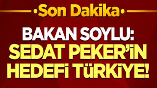 Bakan Soylu, Sedat Peker'in iddialarıyla ilgili konuşuyor